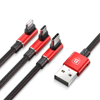 Кабель Baseus MVP 3-in-1 Mobile game USB - Lightning/microUSB/USB Type-C (CAMLT) 1.2 м 3,5A - App Ekb - Купить Екатеринбурге iPhone, Гаджеты